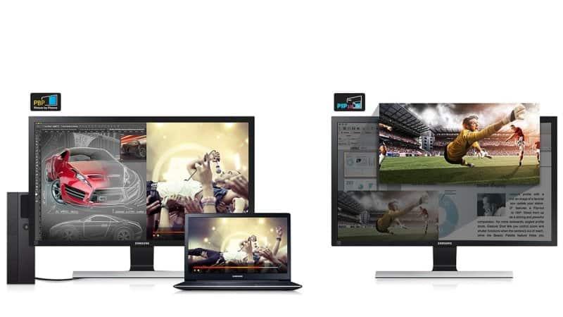 Samsung U28E590D Test - Multitaskingfunktion des Monitors