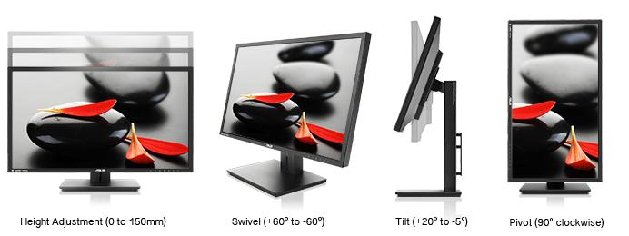 ASUSPB287Q Test der Ergonomie des Monitors