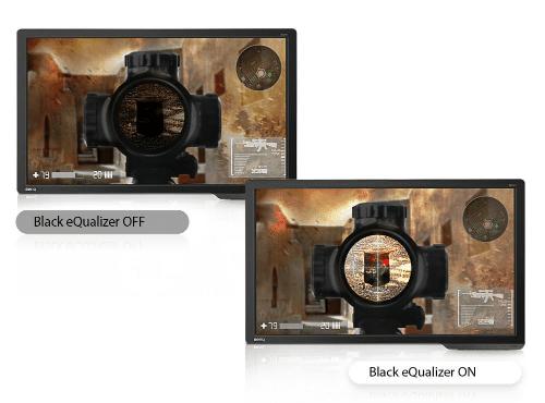 BenQ ZOWIE RL2455 Test des Black eQualizer-Effekts