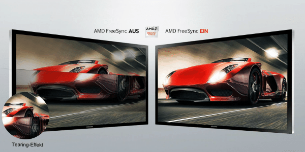 Samsung C27F396F Test der AMD FreeSync-Technologie