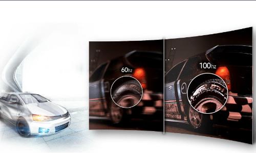 Samsung C34F791 Test der Bildwiederholungsfrequenz