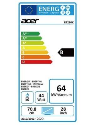 Acer RT280K Test Energieklasse Darstellung