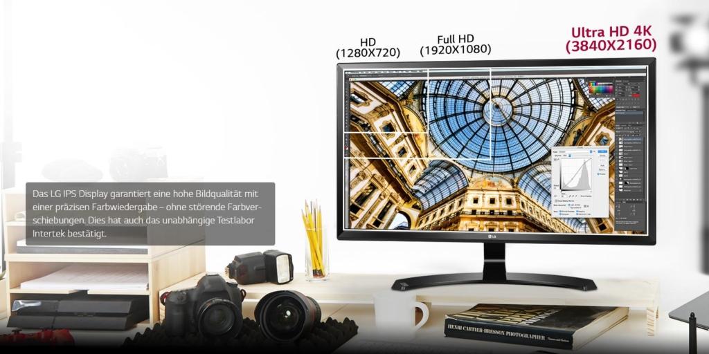 LG 27UD58-B Test Verbesserte Bildqualität