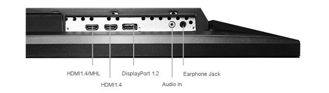 ASUSPB287Q Test Monitoranschlüsse