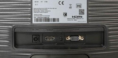 Samsung S24D330H Test der Monitoranschlüsse