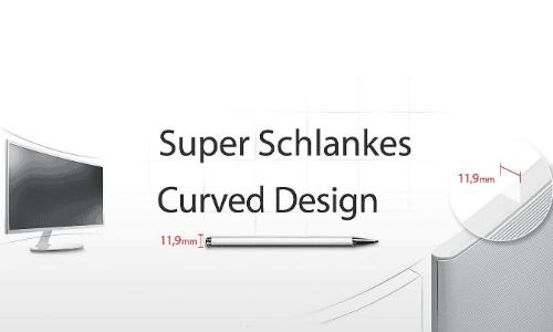 Samsung C32F391 Test des Curved Designs